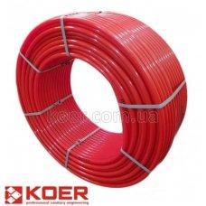 Труба теплый пол Koer PERT EVOH 16*2,0 (RED) с кислородным барьером