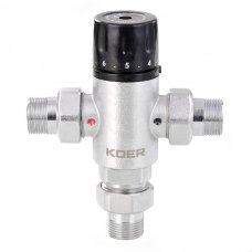 Клапан KOER KR.1258 1'' смесительный термо-ий трехходовой