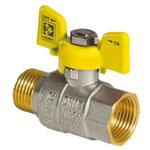 Кран для газа PN40 YELLOW