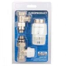 Комплект EP.1301 - 1/2'' для подключения радиатора (прямой) с термоголовкой
