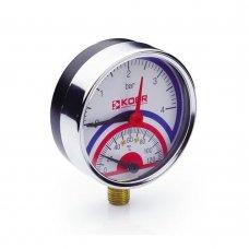 Термо-Манометр Koer радиальный 821R 4 bar, D=80мм, 1/2''