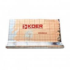 Пленка Koer KR.8018 теплоотражающая металлизированная с разметкой 105 мкр, РУЛОН 50 м