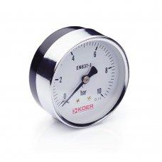 Манометр Koer аксиальный 611A 10 bar, D=63мм, 1/4''