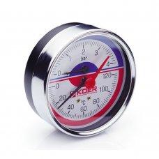 Термо-Манометр Koer аксиальный 812A 4 bar, D=80мм, 1/2''