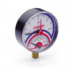 Термо-Манометр Koer радиальный 801R 4 bar, D=80мм, 1/2''