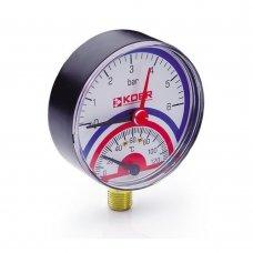 Термо-Манометр Koer радиальный 801R 6 bar, D=80мм, 1/2''