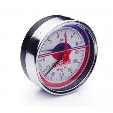 Термо-Манометр Koer аксиальный 812A 10 bar, D=80мм, 1/2''