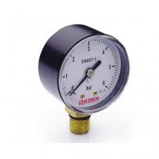 Манометр Koer радиальный 502R 6 bar, D=50мм, 1/4''