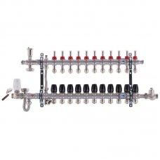 """Коллектор Koer KR.S1011-11 со встроенным смесительным узлом 1""""х11 SUS304 и евроконусами 3/4-16"""