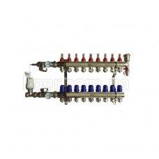 Коллектор Koer в сборе на 9 выходов (без насоса) с расходомерами и 1 сливной