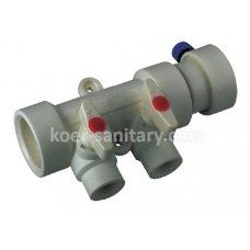 Коллектор ПП Koer 2-way с шаровыми кранами