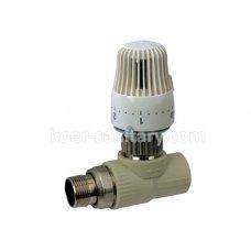 Кран ПП Koer прямой 25x3/4 термостатический с термоголовкой