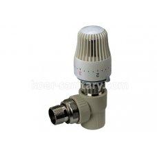 Кран ПП Koer угловой 20x1/2 термостатический с термоголовкой